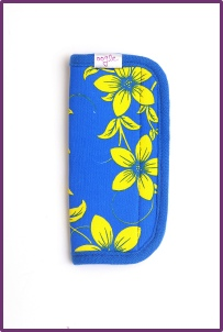 retro flowers blue and yellow oogo