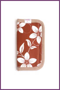retro flowers brown and white oogo