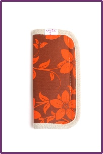 retro flowers brown and orange oogo